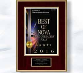 Karins Florist wins Best Of NoVA
