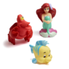 Ariel, Sebastian and Flounder bathtub toys