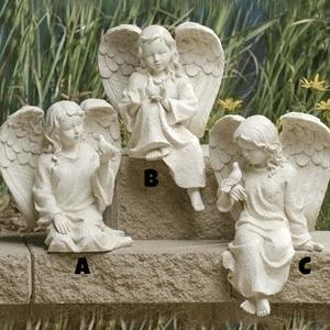 Inspirational Sitting Cherub Angel
