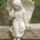 "7.5"" Inspirational Sitting Cherub Angel"