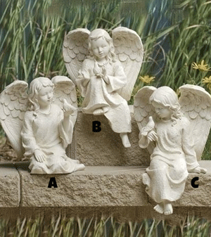 Inspirational Sitting Cherub Angel