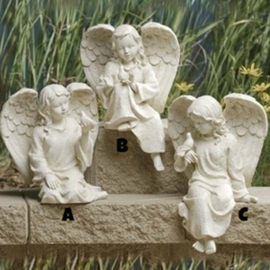 inspirational sitting cherub angels