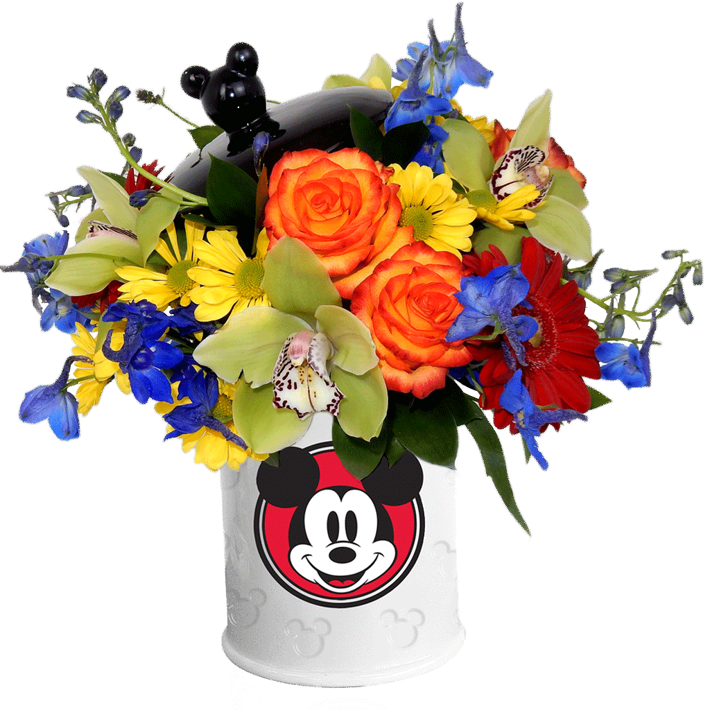 Unique Mickey Mouse Cookie Jar Bouquet NY04