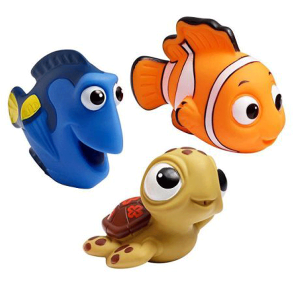 Nemo, Dory, and Squirt