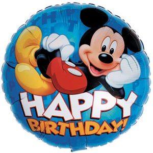 "17"" Mickey Mouse Happy Birthday Balloon"