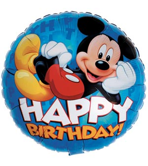 "17"" Mickey Mouse Happy Birthday Balloon"