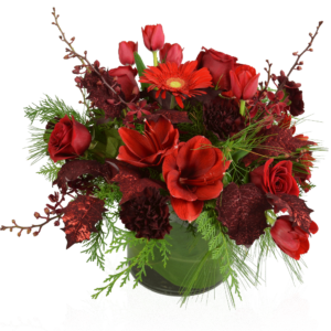 Blissful Reds flower arrangement