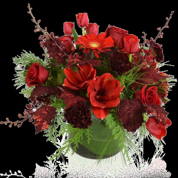 Blissful Reds flower arrangement