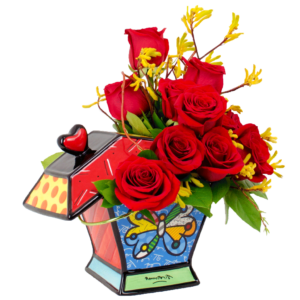 Britto Butterflies and Roses