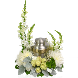 Heavenly White Urn Wreath
