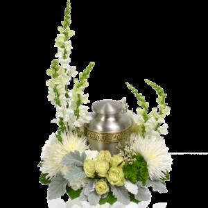 Heavenly White Urn Wreath
