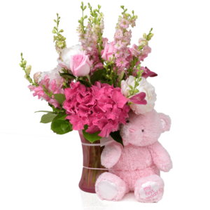 My First Teddy Pink Bouquet