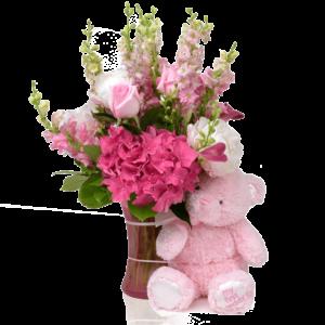 My First Teddy Pink Bouquet