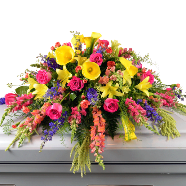 Casket Spray Pinks & Yellows