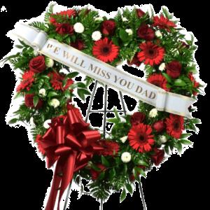Heart Shaped Standing Wreath