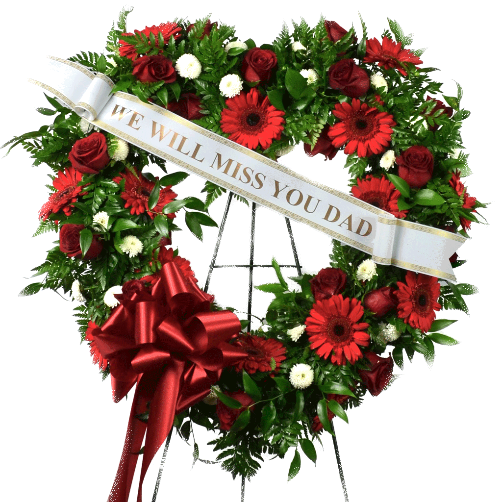 Heart shaped standing wreath izmirmasajfo