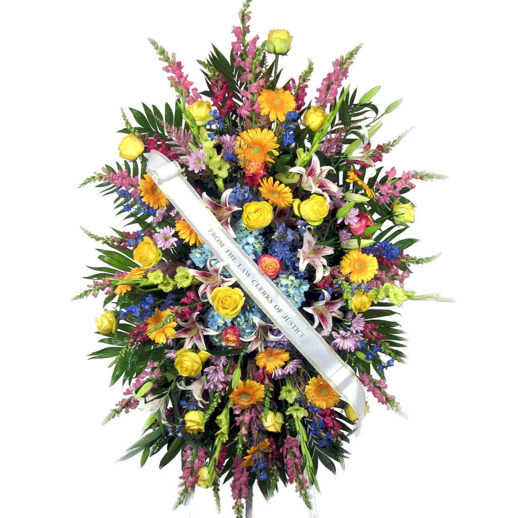 Sympathy flowers funeral flower arrangements by karins florist multi colored standing easel spray izmirmasajfo