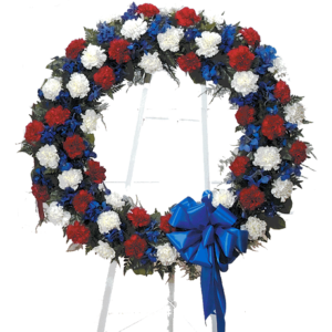 Red White & Blue Standing Wreath