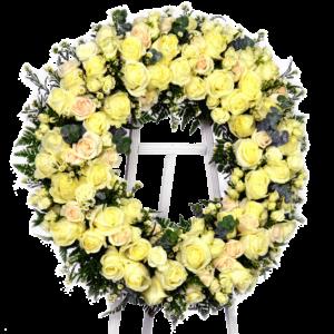 Standing Yellow Rose Wreath