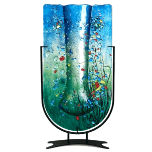 Abstract Marine Tall U-Shaped Vase