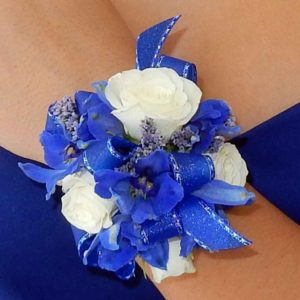Blue Bliss Corsage