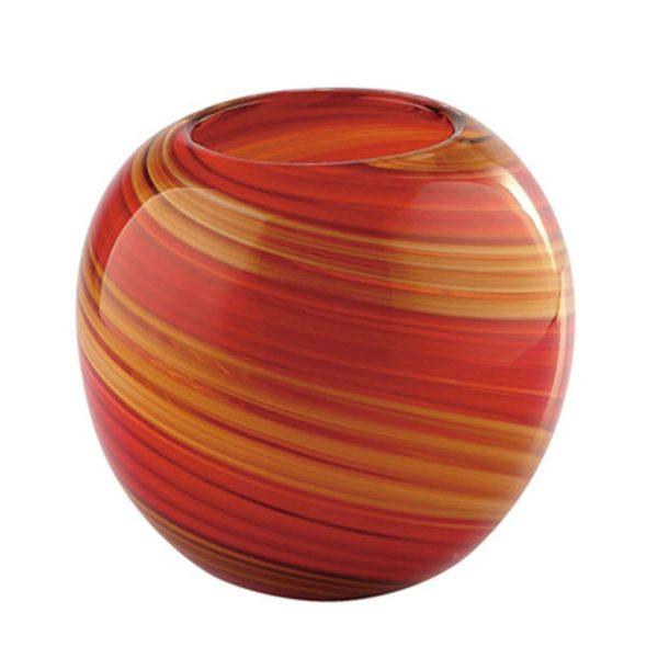 Cinnamon Swirl Round Vase