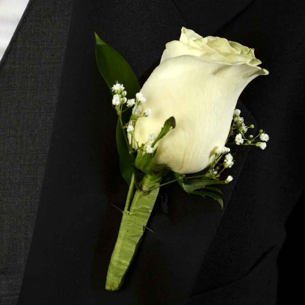classic rose boutonniere, Beautiful flower