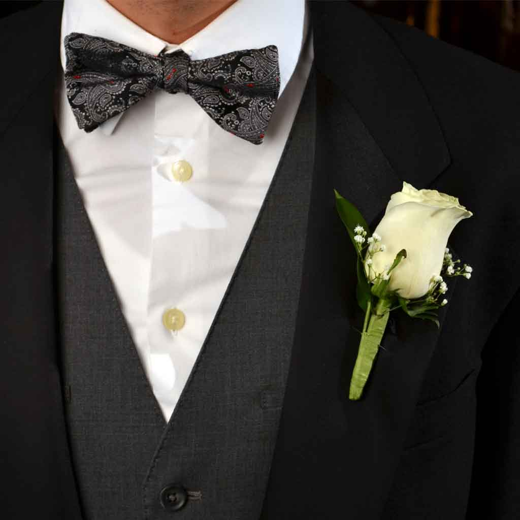 rose boutonniere, Beautiful flower