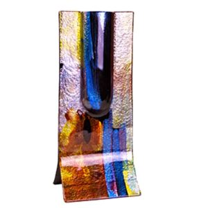 Earth and Sea Free Standing Fused Glass Vase