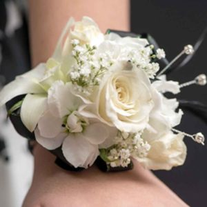 White Perfection Corsage