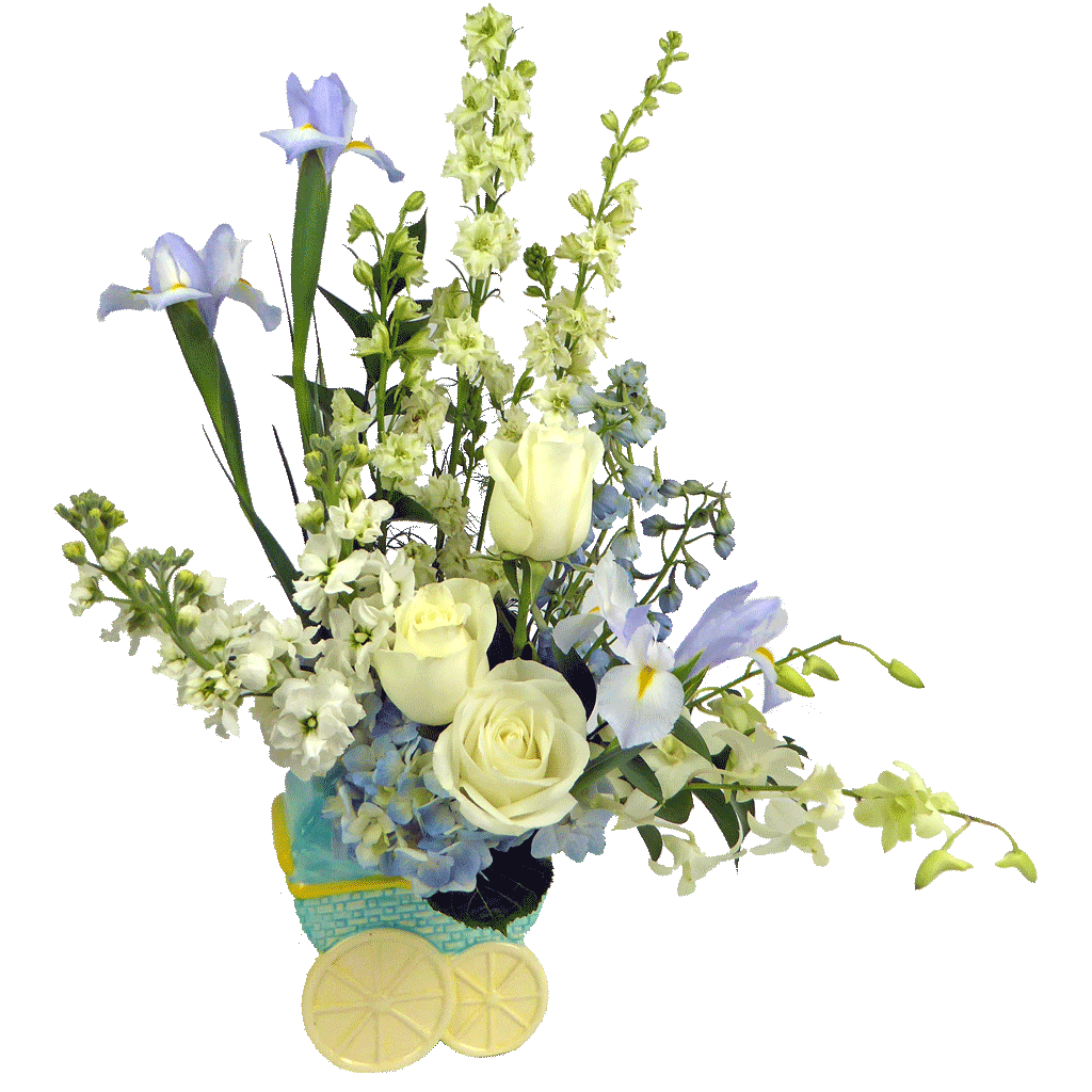 Baby Boy Carriage Bouquet