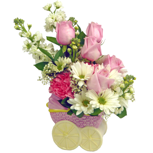 Baby Girl Carriage Bouquet