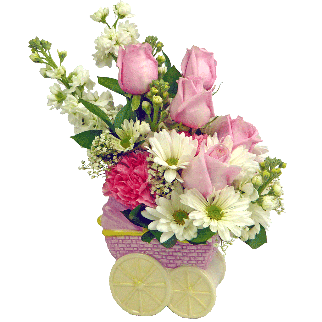 New Baby Flower Arrangements From Karins Florist Same Day Delivery