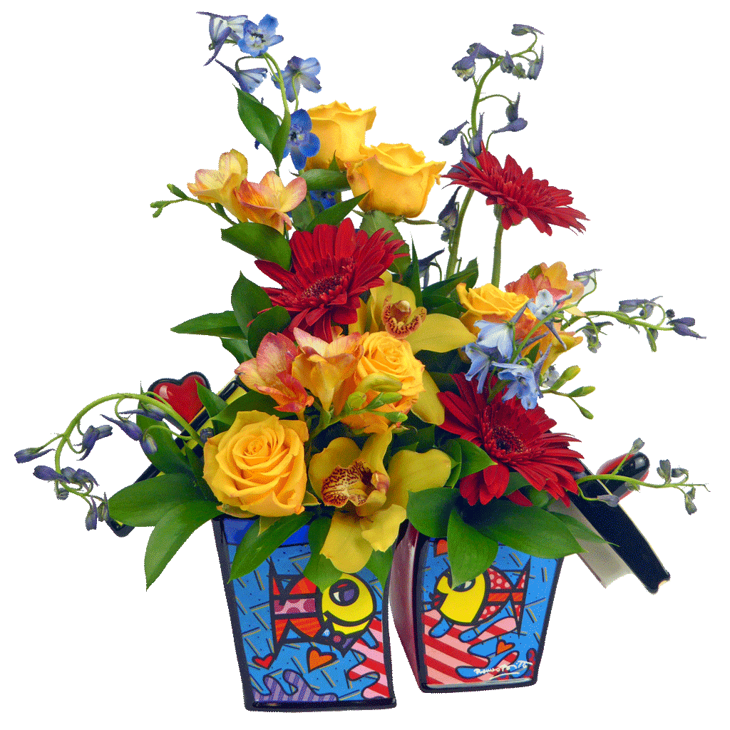 Romero Britto Comes To Our Area Flowers Flower Delivery Send