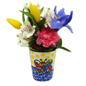 Britto Toothbrush Holder with Flowers