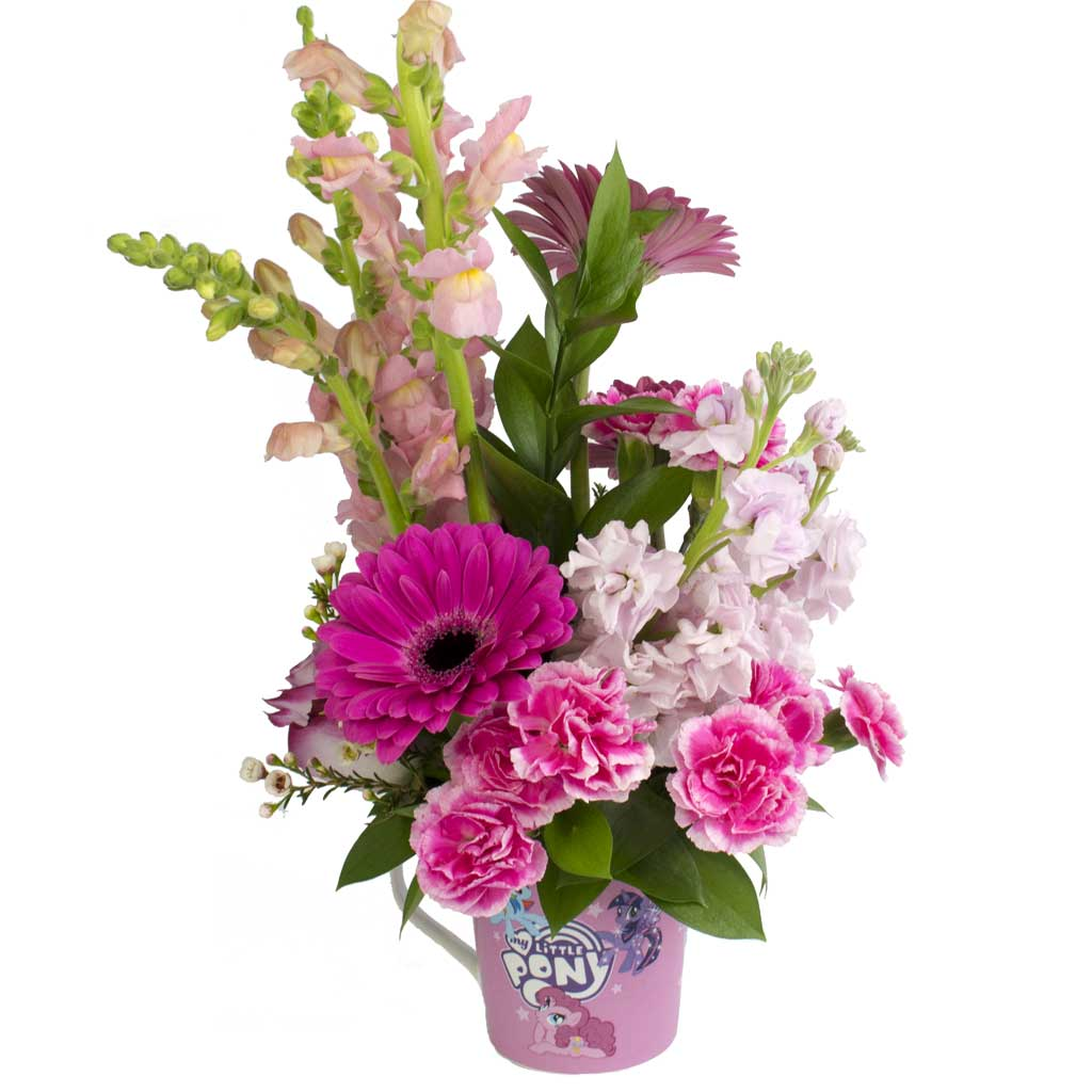 My little pony flower mug designed award winning by karins florist my little pony mightylinksfo