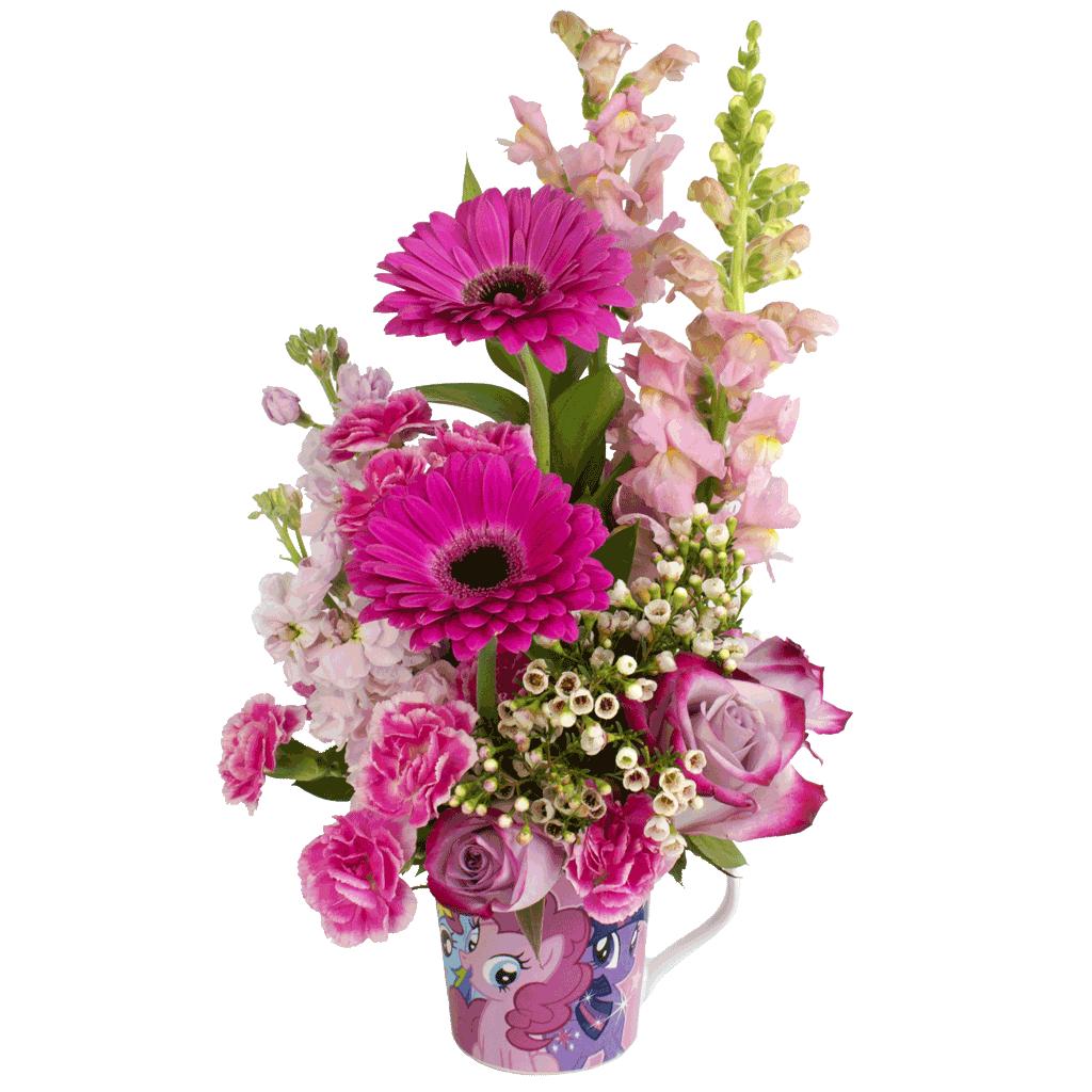 My little pony flower mug designed award winning by karins florist my little pony bouquet mightylinksfo
