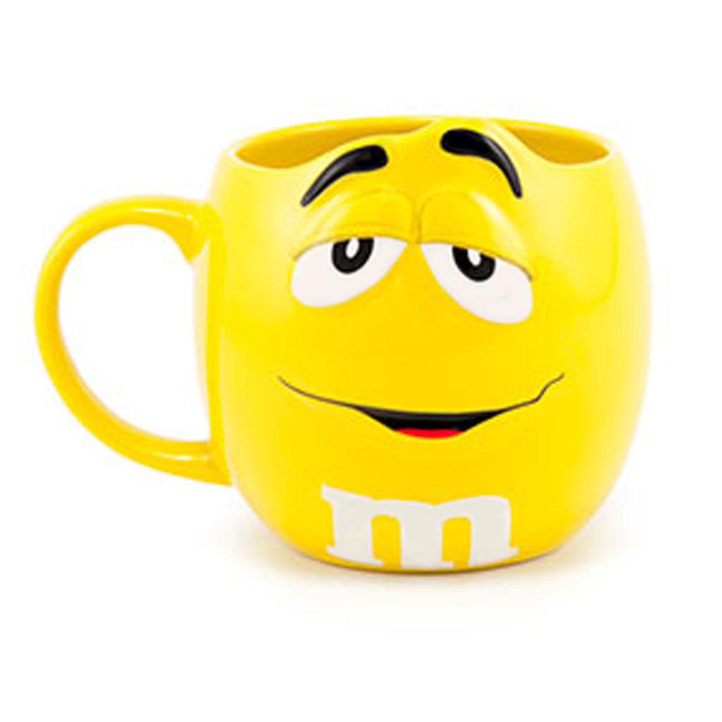 yellow m m character flower mug designed by karin s florist