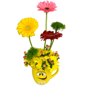 Yellow M&M Flower Mug