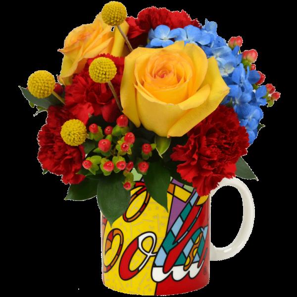 Britto Coca-Cola Mug Bouquet