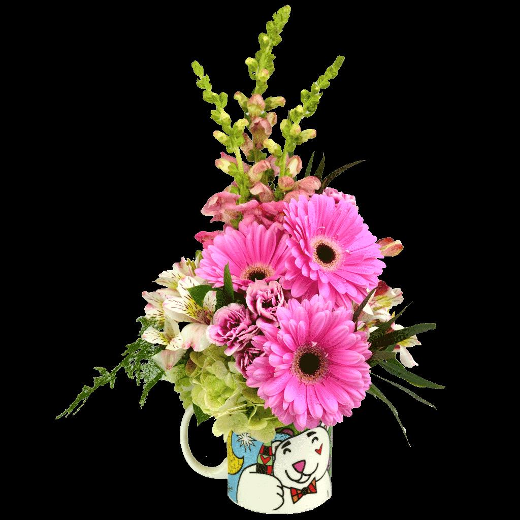 Britto coca cola mug bouquet izmirmasajfo
