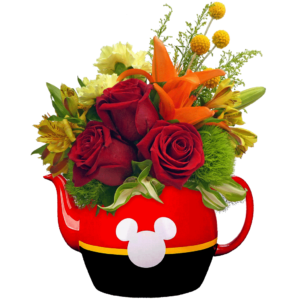 Flowers and Tea with Mickey