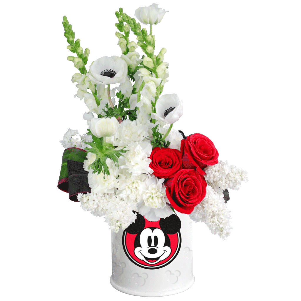 Fabulous Mickey Mouse Cookie Jar Deluxe Bouquet designed by Karins Florist VY86