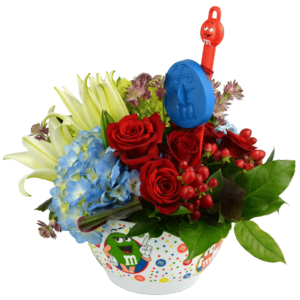m&m Mixing Bowl Bouquet