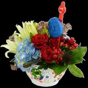 m&m Mixing Bowl Bouquet