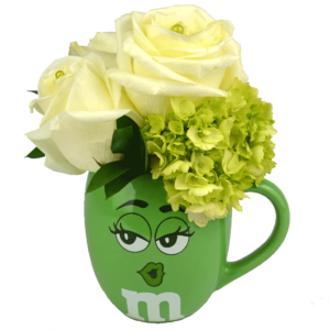 Green m&m Flower Mug