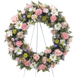 Standing Pink & White Wreath