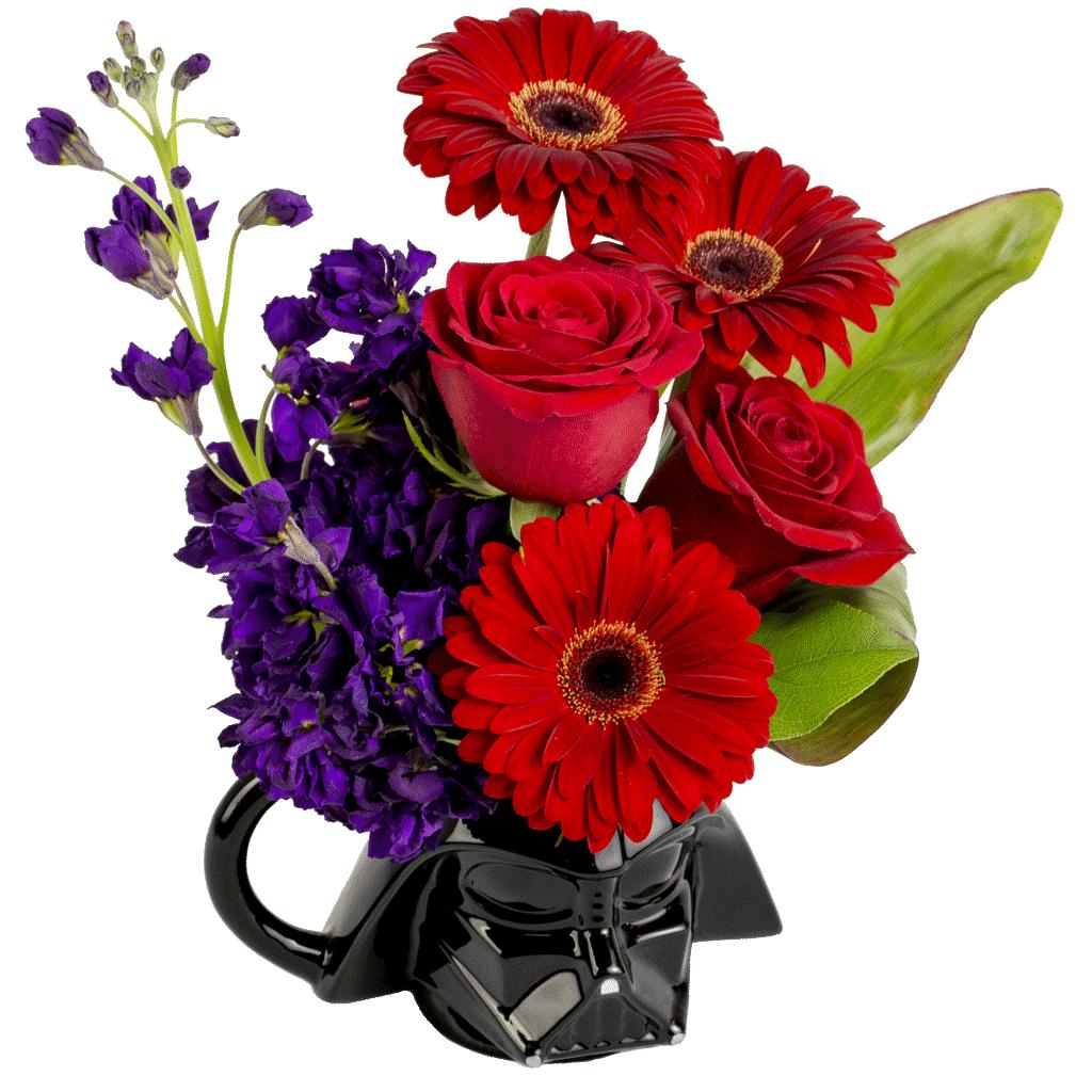 Darth Vader Flower Mug