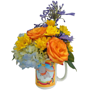 Dumbo Cuties Flower Mug - Blue