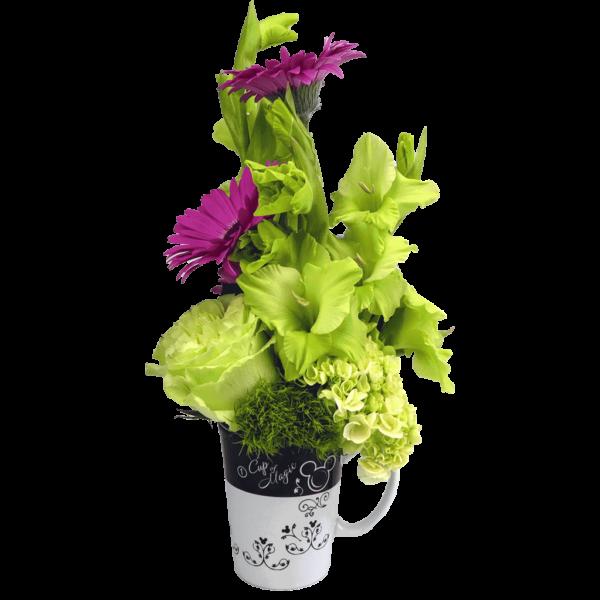 Mickey Cup Of Magic Flower Mug